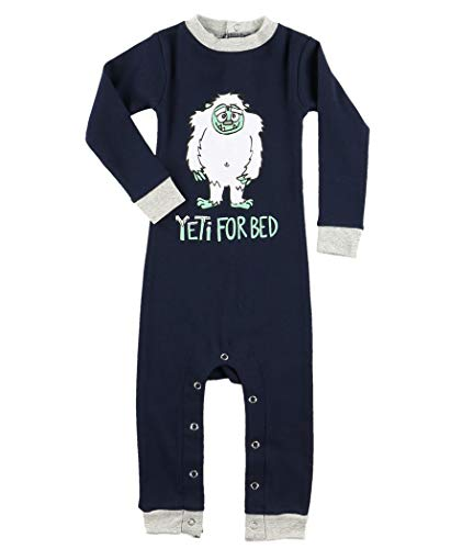 Lazy One Matching Family Pajama Sets for Adults, Kids, and Infants (Yeti for Bed, 6 MO)