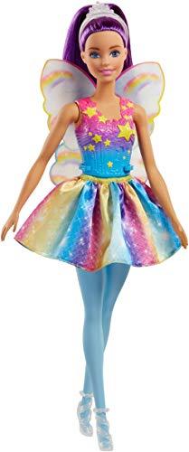 Barbie FJC85 Dreamtopia Regenbogen-Fee (lila Haare)