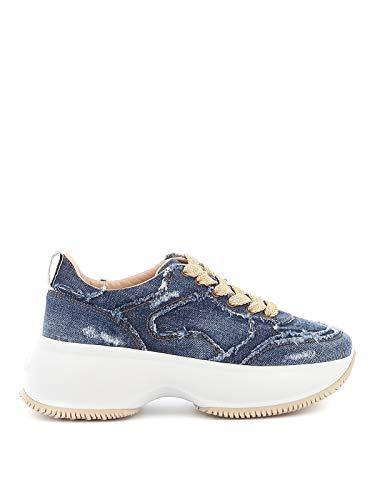 Hogan Luxury Fashion Damen HXW4350BP20JDL9999 Blau Sneakers |