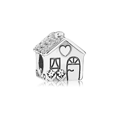 MiniJewelry Family House Charms for Bracelets Home Sweet Home Happy Family Sterling Silver Charms for Daughter Sister Family Silver