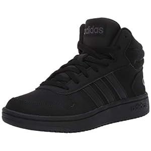 adidas mens Hoops 2.0 Mid Sneaker, Core Black/Core Black/Grey Six, 11.5 US