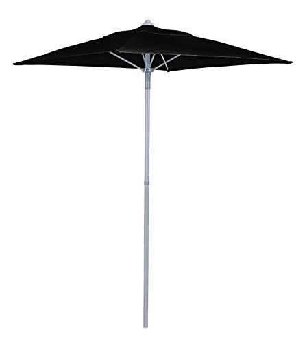 Havnyt Garden Atlantic Parasol Black Umbrella 1.3m with Silver Grey Aluminium Pole