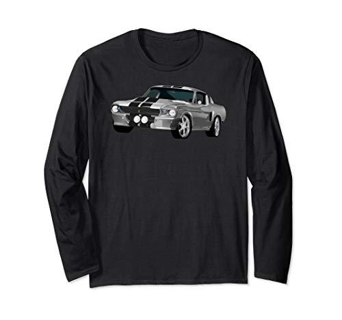 American Horsepower Muscle Car Hot Rod Pony Car Classic Langarmshirt