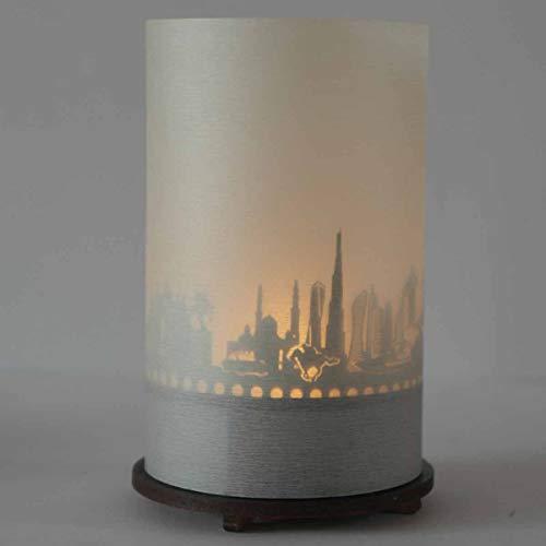 13gramm Dubai-Skyline Windlicht Schattenspiel Premium Geschenk-Box Souvenir, inkl. Kerzenhalter, Kerze, Projektionsschirm und Teelicht