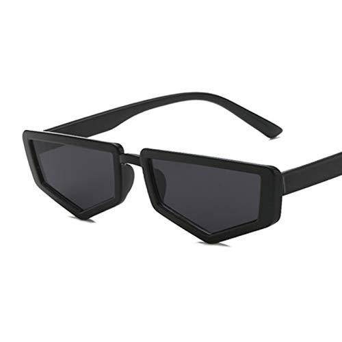 QYV Gafas de Sol para Mujer, Gafas de Sol para Mujer, Gafas para Mujer, Retro, Vintage, Espejo, Gafas de Montura Completa,Black Gray