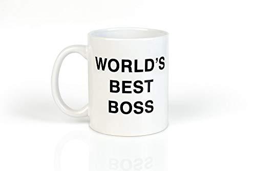 The Office World's Best Boss Ceramic Coffee Mug - Funny 11oz Dunder Mifflin...