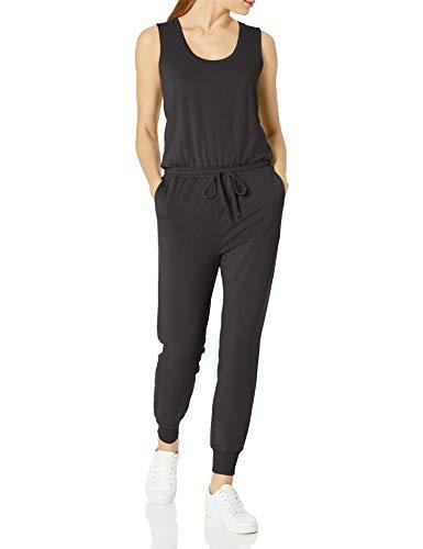 Amazon Essentials Studio Terry Fleece Jumpsuits-Apparel, Schwarz, M