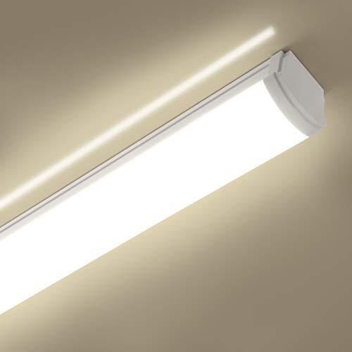 Oraymin 40W LED Feuchtraumleuchte 120CM, LED Röhre 4400LM 4000K Neutralweiß Werkstattleuchte Flimmerfrei IP66 Wasserfest für Büro Garten Keller Warenhaus Carport Beleuchtungtung
