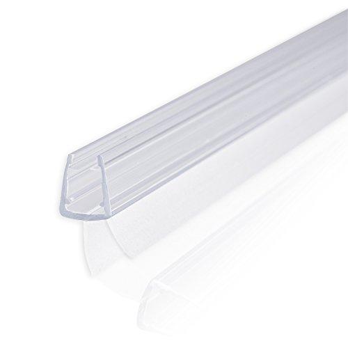80cm Sealis Ersatzdichtung mit Dichtkeder für 6mm/ 7mm/ 8mm Glasdicke Wasserabweiser Duschdichtung Schwallschutz Duschkabine