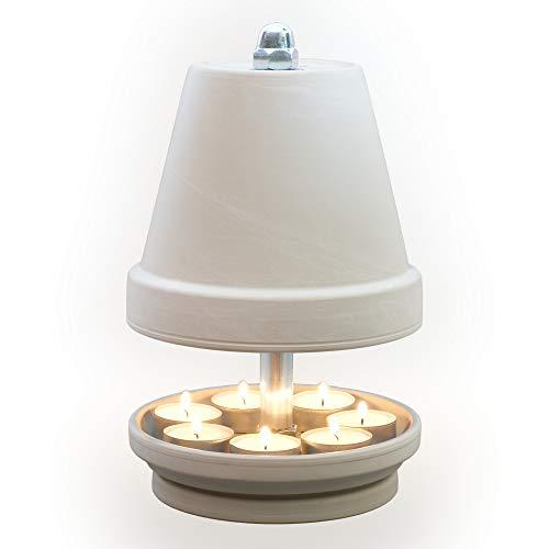 NTS-Serie-Granit- G-L-16-6 Kerzen! Teelichtlampe Teelichthalter Teelichtofen Stövchen Meditationszubehör Kerzenhalter Teelichter + Feuerzeug GRATIS in S, M, L, XL,