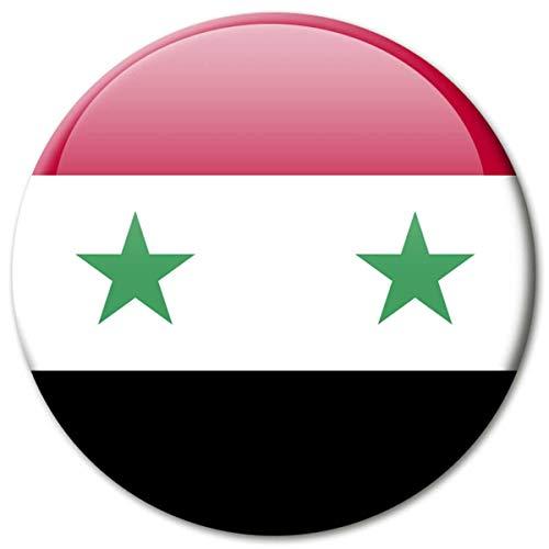 Kühlschrankmagnet Flagge Syrien Magnet Länder Flaggen Reise Souvenir für Kühlschrank stark groß 50 mm