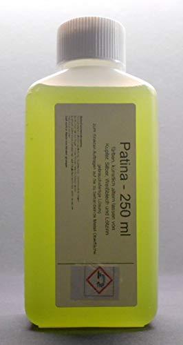 250 ml Tiffany Patina zum schwarz beizen (künstlich altern) von Kupfer, Silber, Weißblech, Lötzinn geeignet