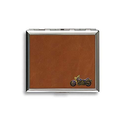 Knight. Cavaliere Harley Davidson - Portasigarette Rivestito in Pelle Marrone Chiaro