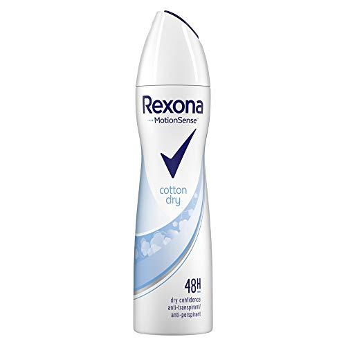 Rexona Anti-Transpirant Spray für langanhaltende Frische Cotton Dry 48-Stunden-Schutz (6 x 150 ml)