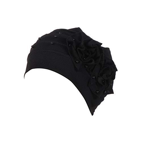 URIBAKY Frauen, moslemisches,Hijab Kopftuch,Turban-Wickelkappe-Chemo Beanie-Schal die Indien-Hut bördeln Rüsche-Krebs