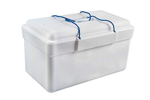 Nevera de Poliestireno, 25 litros de capacidad.Peso. 439 gramos. Ligera, eficiente y resistente. Medidas exteriores: 30x30x54 cms. aprox..
