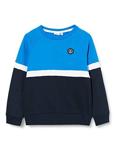 NAME IT Jungen NKMNEELO LS Sweat BRU Pullover, Dark Sapphire, 122-128