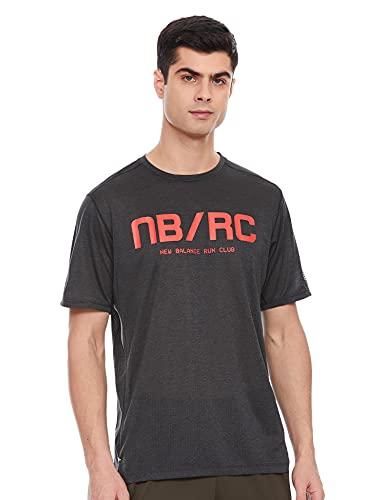 New Balance MT01235 Camiseta, Rojo, Talla M