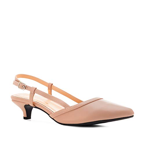 Andres Machado Slingback - Pumps für Damen in Soft - Rosa - Slingpumps High Heels AM5428 - EU 35