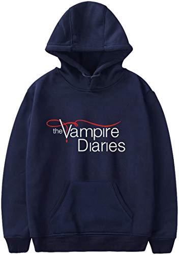 MINIDORA The Vampire Diaries Felpa con Cappuccio da Donna Uomo Maniche Lunghe Unisex Felpe Casual 3XL,Navy Blu Logo