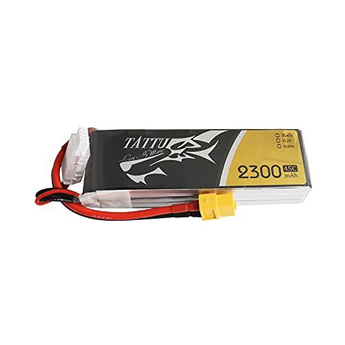 TATTU Batteria LiPo 2300mAh 11.1V 45C 3S1P for FPV Racing Quadcopters RC Elicottero Aereo