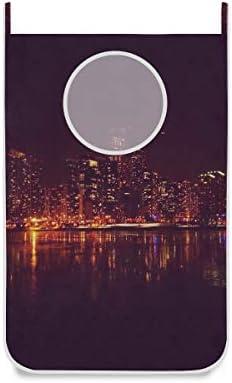 MONTOJ Chicago City nacht deur opknoping wasmand tas