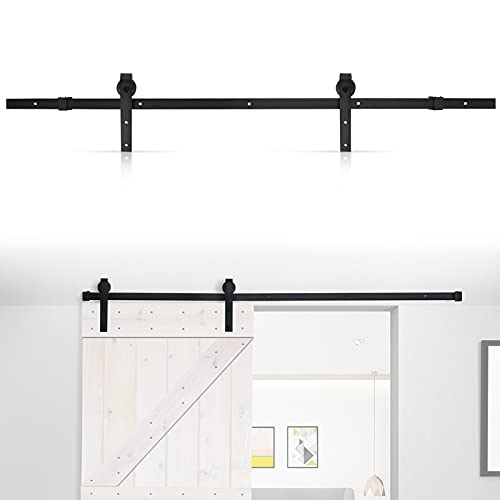 Skjutdörr spårsats, modern glidande ladugård dörr garderob hårdvara spår system enhet för en trädörr 1830 mm (6FT)