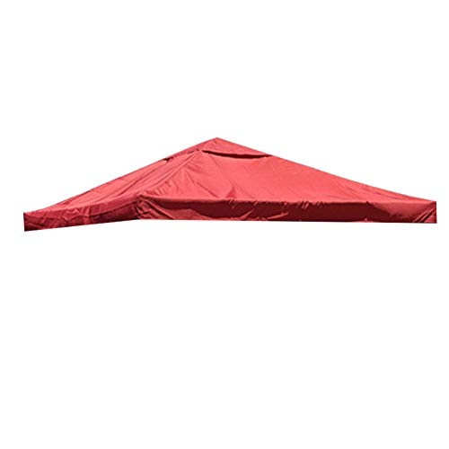 Gazebo Covers Replacement, 3m X 3m Waterproof Outdoor Gazebo Cover Pop Up Gazebo Top Cover Replacement Cloth Cover for Courtyard Garden Backyard
