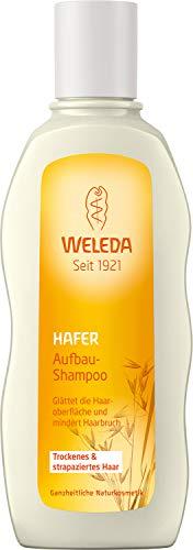 WELEDA Hafer Aufbau-Shampoo, Naturkosmetik Pflegedusche für strapaziertes und trockenes Haar, Haarshampoo glättet die Haare und mindert Haarbruch und Spliss (1 x 190 ml)