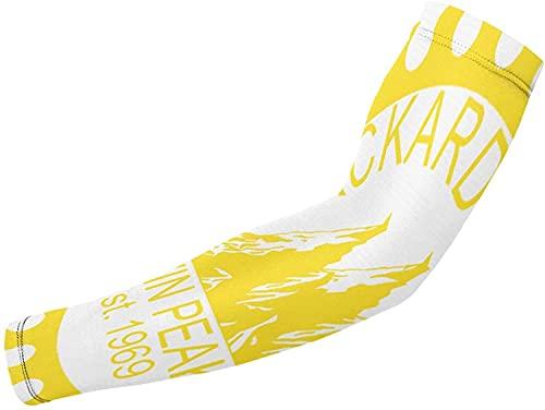 Mangas para brazo de refrigeración con protección UV, 1 par de mangas de compresión para ciclismo, correr, baloncesto, fútbol, gemelos picos