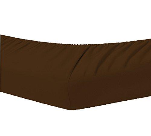Dormisette Topper Spannbettlaken Boxspring Bett 140-160 x 200-220 cm 0077 Maroon
