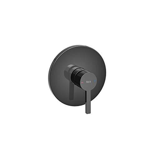 Roca Mezclador grifo monomando empotrable para baño o ducha, serie Naia, 21,5 x 6,5 x 14 centímetros, color negro titanio (Referencia: A5A2B96CN0)