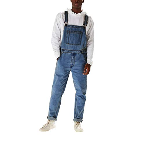 SHE.White Arbeitshosen Männer, Jeans-Overalls Herren, Größen S-XXXL, Latzhosen Verschiedene Farben, Arbeit hose, Blaumann, Arbeitskleidung Qualität Jumpsuit mit Taschen