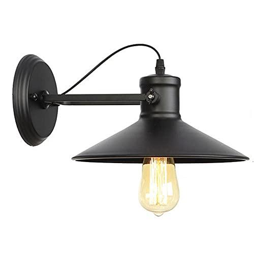 GKLHC American Country Dome Barn Light Lámpara de Pared de Metal Lámpara de Pared Industrial Vintage Lámpara de Techo E27 Lámpara de Pared de Hierro Forjado Lámpara Decorativa de Barra