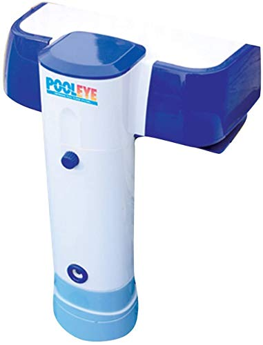 PoolEye Inground/Aboveground Immersion Pool Alarm – Battery Powered Safety Remote Receiver, For sizes up to 18' x 36' – ASTM Compliant Water Motion Sensor, PE23, White/Blue