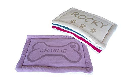 Cama de perro y gato pequeña lavable, colchón para mascotas Kennel Pad, tamaño 60 x 40 cm (púrpura)