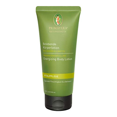 PRIMAVERA Belebende Körperlotion Ingwer Limette 200 ml - Bodylotion, Naturkosmetik - feuchtigkeitsspendend, vitalisierend - vegan