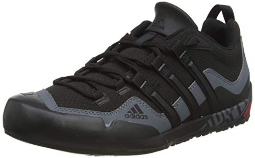adidas Originals Terrex Swift Solo, Zapatilla de Velcro Unisex Adulto, Negro (Black/Black/Lead 0), 42 2/3 EU