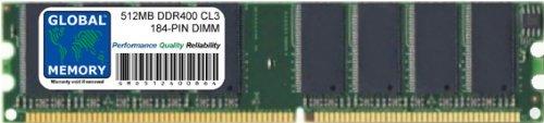 GLOBAL MEMORY 512MB DDR 400MHz PC3200 184-PIN DIMM Memoria R