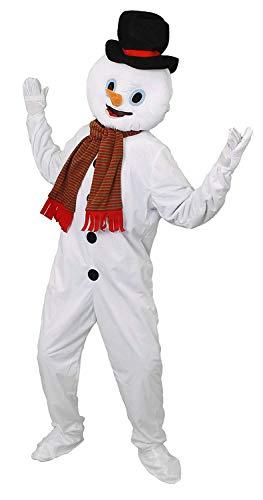 Disfraz DE Mascota DE MUÑECO DE Nieve. con Cubiertas DE Mano / Zapato Adjuntas, Cabeza con Nariz DE Zanahoria Y...