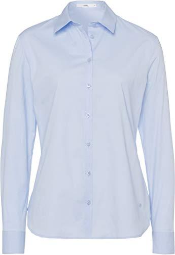 BRAX Damen Style Victoria Hemdkragen Klassisch Bluse, Pale Blue, (Herstellergröße: 38)