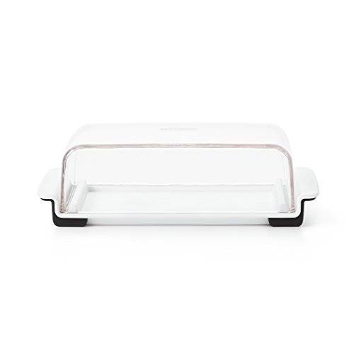 plastic double butter dish - 1