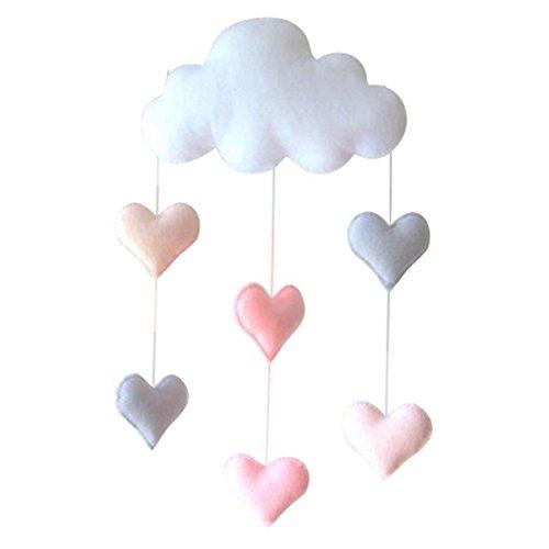 SODIAL Preciosa Nube Tienda de Pared Colgante Decoracion de Juguetes Decoracion de la habitacion para ninos Apoyos de Fotos (Corazon de Amor)