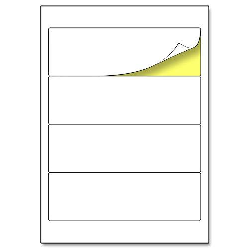 192 x 61 mm, Ordnerrücken Etiketten Aufkleber A4 matt - 25 Blatt