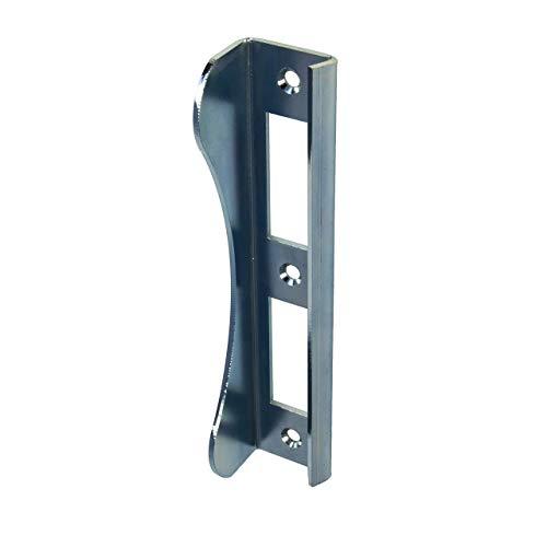 Gedotec Schließblech Tür Winkel-Schließblech für Gartentore | Toranschlag 180 mm | Stahl verzinkt | Lappen-Schließblech massiv mit Materialstärke 3 mm | 1 Stück - Anschlag für Einsteckschloss & Tore