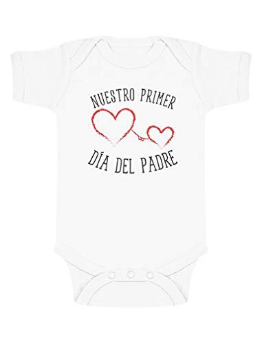 Body de Manga Corta para bebé - Regalo Dia del Padre Bebe - Nuestro Primer Día del Padre 3-6 Mes...