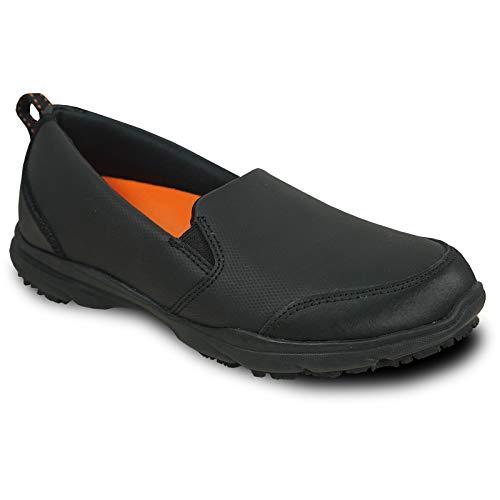 VANGELO Professional Slip Resistant Women's Slip On Work Shoe for Food Service Health Care Nurse AVA-2 Black Women's Size 9.5M