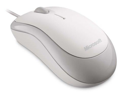 Microsoft Basic optische Maus schnurgebunden weiß (original Handelsverpackung)