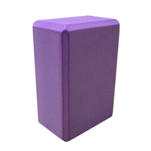 Nu-Source Yoga Block, Purple, 9 x 6 x 3-Inch