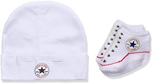 Converse Unisex Baby Bekleidungsset Hat And Bootie, Gr. 0/6 Monate (Herstellergröße: 0-6M), Mehrfarbig (White)